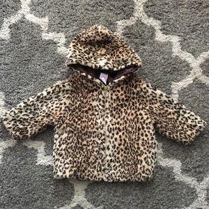 Gymboree Faux Leopard Fur Coat